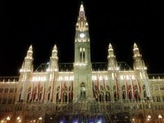 Rathaus (city hall): free guided tour Wednesday at Bizarre Facts, Ice Skating, Tour Guide, Vienna, Four Square, Austria, Wednesday, Tours, Architecture