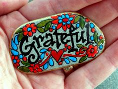 Grateful / Painted Rock / Sandi Pike Foundas / by LoveFromCapeCod