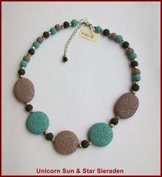 K12013 - Colored lava beads / gekleurde lava steen