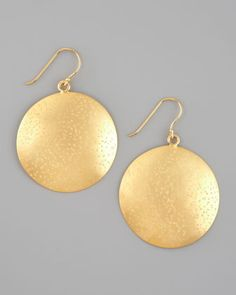 Gold Circle Earrings by Nest at Neiman Marcus.