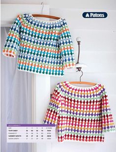 Child's Crochet Jumper Pattern Fit Ages: 10 years. Child's Crochet Jumper Pattern Fit Ages: 10 years. Blouse Au Crochet, Crochet Jumper Pattern, Jumper Patterns, Crochet Jacket, Crochet Patterns, Knitting Patterns, Crochet Ideas, Pull Crochet, Crochet Girls