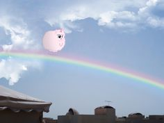 #549477 - artist:mactavish1996, artist:viperdash-venomous, oc, oc only, oc:fluffle puff, photo, pink fluffy unicorns dancing on rainbows, ponies in real life, rainbow, safe, solo - Derpibooru - My Little Pony: Friendship is Magic Imageboard