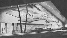 Ala Moana shopping center, 1966.  OAHU.