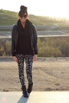 Tribal Print Pants. An outfit I can wear with my tribal print pants! Glad to know I can put those babies to use:)