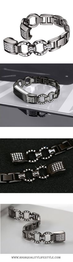 Fitbit Alta Replacement Bands Alta HR Replacement Bands Metal Bands Rhinestone Bling – Black Band #fitness #fashion #fitnessmotivation #fitbit #fitbitalta #bling