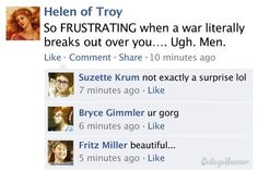 7 Hilarious Historical Facebook Brags (#humblebrag via College Humor) via BuzzFeed)
