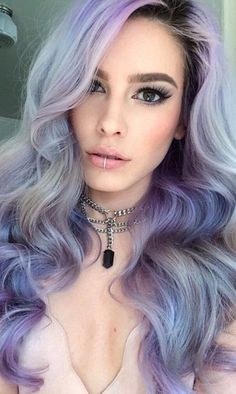 silvery purple hair