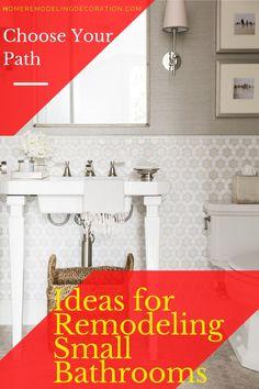 Ideas for Remodeling Small Bathrooms - Randy Cubbage Ikea Kitchen Remodel, Diy Bathroom Remodel, Bathroom Renovations, Upstairs Bathrooms, Small Bathrooms, Glass Sink, Table Top Design, Porcelain Sink