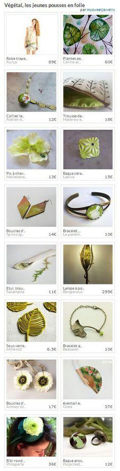 """Collection """"Végétal, les jeunes pousses en folie"""" par Mysweetjewelry. http://www.alittlemarket.com/collection/vegetal_les_jeunes_pousses_en_folie-311781.html"""