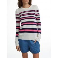 Pre Order Essential Cashmere Stripe Crewneck