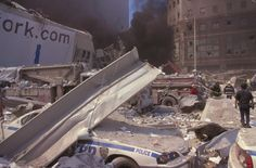 Ground Zero on September 11, 2001 | All those buried emergency vehicles...