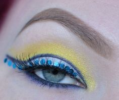 Sailor Uranus inspired makeup by http://www.twisted-hearts.blogspot.de/2016/03/sailor-uranus-blogparade.html
