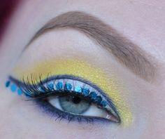 Sailor Uranus inspired makeup by http://www.twisted-hearts.blogspot.de/2016/03/sailor-uranus-blogparade.html