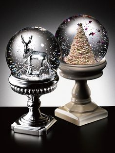 Francfranc 2014 CHRISTMAS~100Gifts~ Christmas 2014, Christmas Themes, Christmas Decorations, Water Globes, Snow Globes, Snow Globe Crafts, Glitter, Classic Toys, Snowball