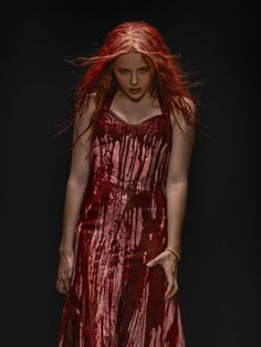 A re-imagining of the classic horror tale about Carrie White (Chloë Grace Moretz), a shy girl outcast by her peers and sheltered by her deeply religious mother (Julianne Moore) Chloe Grace Moretz, Red Blouses, Blouses For Women, Chiffon Blouses, Carrie Halloween Costume, Halloween 2013, Carrie Stephen King, Stephen Kings, Carrie 2013