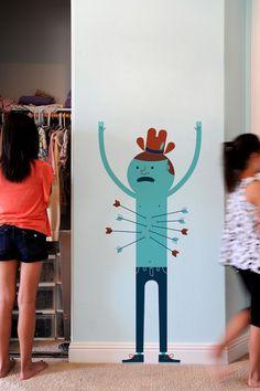 Arrows par Jim Houser- Découvrez le monde étrange et enchanté des collages de Jim Houser avec ce sticker mural 'flèches'.