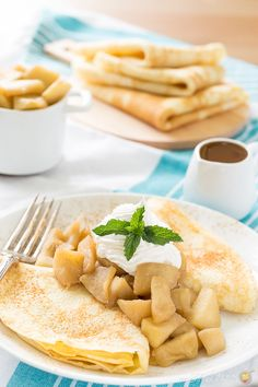You will love how easy it is to make these apple crepes.  A great recipe for fall!