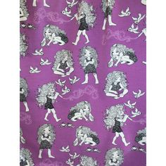 Princess Messy Hair (Prinsessa Takkutukka) by Leena Renko Stoff Design, Print Fabrics, Messy Hairstyles, Printing On Fabric, Kids Outfits, Princess, Cool Stuff, Fabrics, Messy Hairstyle