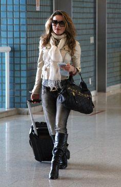 Rita Guedes no aeroporto Santos Dumont, RJ