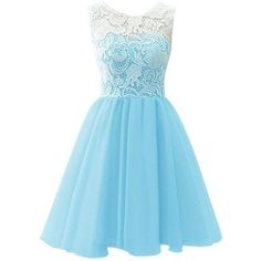 RohmBridal Women's Short Lace Chiffon Prom Homecoming Dress Light Blue... ❤ liked on Polyvore featuring dresses, chiffon prom dresses, blue homecoming dresses, blue chiffon dress, chiffon dress and light blue dress Cheap Dresses, Cute Dresses, Formal Dresses, Mini, Clothes, Fashion, Inexpensive Dresses, Pretty Homecoming Dresses, Outfit