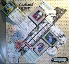 """Carolina Ghelfi Scrapbooking: """"Enchanted Moments"""", mi resolución al CSI #30!"""