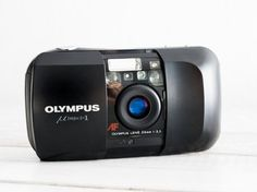 Olympus mju-1 + Samples! MINT CONDITION functional vintage 35 mm film analog camera, lomography compact point&shoot, wide lens + handstrap!