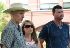 Shannon Gaes (Left) stands next family and friends at a press conference Tuesday afternoon after the death of his son, Taylor, who died from the plague June 8. (Photo Credit: Skyler Leonard) | Rocky Mountain Collegian