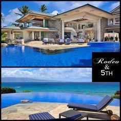 Now that's a home!!!  Jewel of Maui is an sumptuous beach-front luxury estate, located in Kapalua on Maui Island, the second-largest of the Hawaiian Islands. #rodeoand5th #luxury #homes #view #design #decor #hawaii #pool #maui