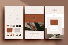 Ad: Auburn 24 Brand Sheets by Studio Standard on --- DESCRIPTION --- The Auburn Brand Sheets are a series of 24 individually designed branding template sheets designed in both Adobe Branding Template, Branding Design, Logo Design, Graphic Design, Adobe Indesign, Adobe Photoshop, Auburn Logo, Presentation Software, Instagram Bio