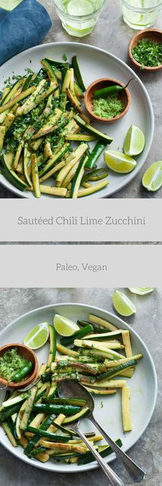 Sauteed Chili Lime Zucchini - Tender sautéed zucchini is brightened with chili lime salt.