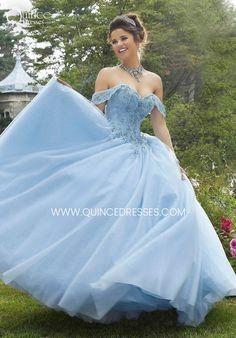 Blue Ball Gowns, Ball Gown Dresses, 15 Dresses, Fashion Dresses, Mori Lee Quinceanera Dresses, Turquoise Quinceanera Dresses, Cinderella Quinceanera Dress, Lace Back Dresses, Pretty Dresses