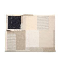 Remodelista: Cassan Linen Quilt / fiber art / modern / black and white / monochromatic / texture / pattern