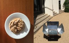 Chocolate chip cookies baked right on the beach at the Ritz Carlton in Puerto Rice