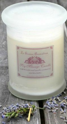 Lavender and Vanilla Aromatherapy Massage Candle by La Sirène Aromatica