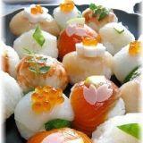 コロンと可愛い~♪ひな祭りのてまり寿司☆