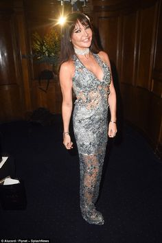 Sizzling:Lizzie Cundy proudly flaunted the results of her recent bum lift as she attended...