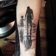 father and son silhouette tattoo ile ilgili görsel sonucu Patriotische Tattoos, Detailliertes Tattoo, Daddy Tattoos, Father Tattoos, Best Sleeve Tattoos, Trendy Tattoos, Body Art Tattoos, Cool Tattoos, Tattos