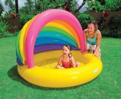 Intex Sun Shade Rainbow Inflatable Kids Swimming Pool with Canopy 57420EP | eBay
