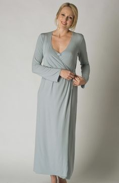 Sky Blue Modal Jersey Robe Dressing Gown - SALE ITEM 60% OFF from  www.pinkcamellia.com a9eeaffba