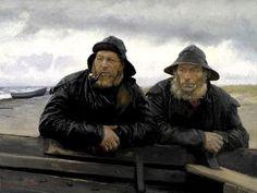 Michael Ancher (1849-1927):  'Two Fishermen beside a Boat'
