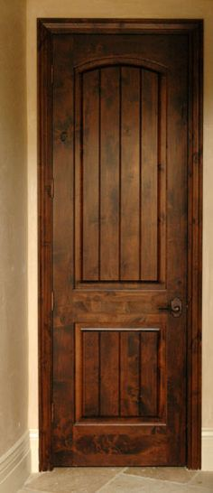Knotty Alder Interior Doors - this is what ours will look like ...