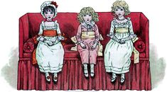 Vintage Children on Sofa Image - Cute! - The Graphics Fairy