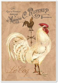 Insane This beautiful French Country Rooster art print will give your French Country kitchen, dining room, or any other room in your home a touch of Rustic  The post  This beautiful French Cou ..