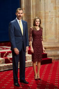 TRH Crown Prince Felipe and Crown Princess Letizia of Spain attend audiences ahead of the Prince of Asturias formal awards 10/25/2013