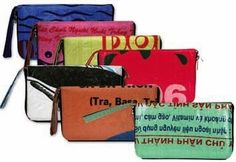 wristlets made from recycled Vietnamese rice bags. too... social worker?