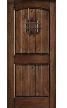 Main Door, Rustic Mahogany Type Prefinished Distressed V Groove Solid Wood  Speakeasy Entry Door Slab, At The Home Depot   Tablet