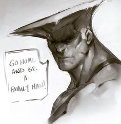 Go Home And Be A Family Man! So hyped for Guile SFV. Here's a night sketch before passin out, with a lil MAD flare if you know what i mean! #udon #capcom #digitalart #streetfighter #guile #sfv