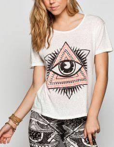 FULL TILT Eye Medallion Womens Hi Low Tee 235611150 | Graphic Tees & Tanks | Tillys.com