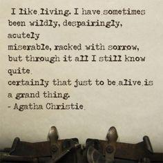 -Agatha Christie x