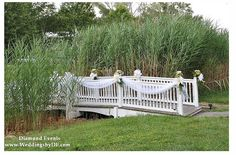 bridge decorations for a wedding | Kent Manor bridge | Wedding ][ General Ideas
